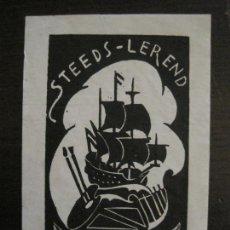 Arte: EX LIBRIS-STEEDS LEREND-SJ. LETTINGA-VER FOTOS-(X-2435). Lote 146289822