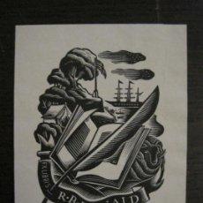 Arte: EX LIBRIS-R.B.RONALD-VER FOTOS-(X-2441). Lote 146290618