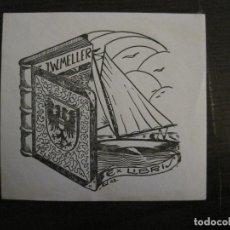 Arte: EX LIBRIS-J.W.MELLER-K.V.-VER FOTOS-(X-2417). Lote 146290914