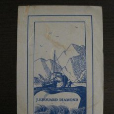 Arte: EX LIBRIS-J. EDOUARD DIAMOND-MICHOLE-VER FOTOS-(X-2482). Lote 147063582