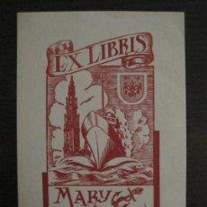 Arte: EX LIBRIS-MARY MACHIELS-STYREEN-VER FOTOS-(X-2483). Lote 147063762