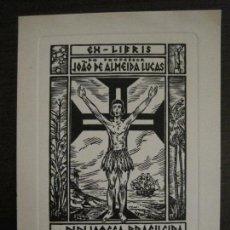 Arte: EX LIBRIS-BIBLIOTECA BRASILERA-ALBERTO LIMA-VER FOTOS-(X-2488). Lote 147064518