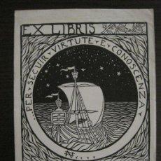 Arte: EX LIBRIS-FILIPPO INNOCENTI-VER FOTOS-(X-2490). Lote 147064826