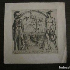 Arte: EX LIBRIS-ANTON PACH-K.RITTER-VER FOTOS-(X-2492). Lote 147065142