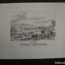 Arte: EX LIBRIS-RICARDO FLEGENHEIMER-VAM-VER FOTOS-(X-2493). Lote 147065354
