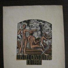 Arte: EX LIBRIS-LUIS DEL CASO AULINAS-VER FOTOS-(X-2495). Lote 147065658