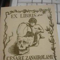 Arte: EX-LIBRIS CESARE ZANGIROLAMI I 1907 - PORTAL DEL COL·LECCIONISTA *****. Lote 147446602