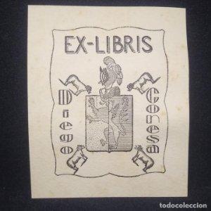 Ex-libris Diego Conesa 7 x 9 cm.