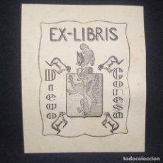 Arte: EX-LIBRIS DIEGO CONESA 7 X 9 CM.. Lote 147719326