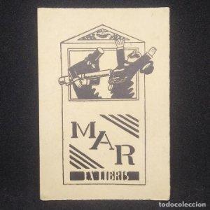 Ex-libris Mar EX-LIBRIS 9,5 x 6,5 cm