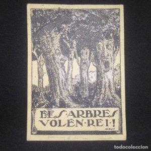 Ex-libris Els arbres volen Rei Miret EX-LIBRIS 13 x 9,5 cm