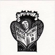 Arte: EX-LIBRIS DE ORIOL Mª DIVI PARA PEPITA PALLÉ – 1996 - (FIRMADA A LAPIZ) . Lote 147885750