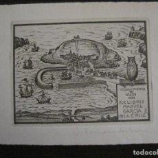 Arte: EX LIBRIS-GRABADO-MANUEL GARCIA DE LA CRUZ-JULIO FERNDANDEZ SAEZ-VER FOTOS-(X-2502). Lote 148359378