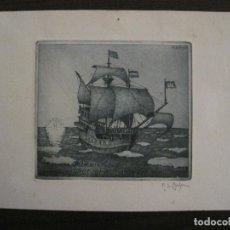 Arte: EX LIBRIS-GRABADO-HERMANN GUTMANN-BAHRE-VER FOTOS-(X-2510). Lote 148360746