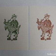 Arte: 022 LOTE DE 2 EX-LIBRIS EXLIBRIS DOLATOWSKI. NIÑO CABRA. Lote 151966926