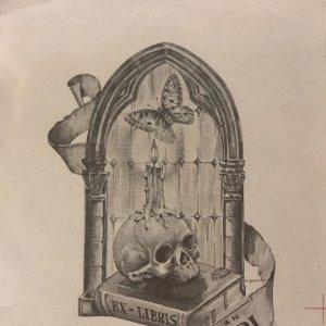 Ex-libris Juan Mari 8,6x11,5 cm