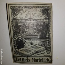 Arte: EX-LIBRIS MARTEL ERB. Lote 152272038