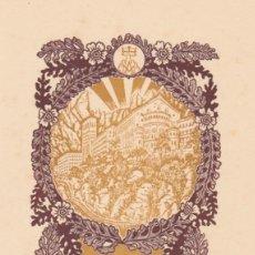 Arte: EX-LIBRIS DE J ANGLADA VILA PARA ANGEL BATLLE Y TEJEDOR - 1951. Lote 154415774