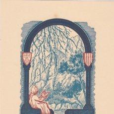 Arte: EX-LIBRIS DE J ANGLADA VILA PARA ANGEL BATLLE Y TEJEDOR - 1951. Lote 154650230
