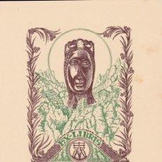 Arte: EX-LIBRIS DE J ANGLADA VILA PARA ANGEL BATLLE Y TEJEDOR - 1951. Lote 154650494