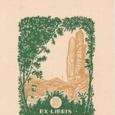 Arte: EX-LIBRIS DE J ANGLADA VILA PARA ANGEL BATLLE Y TEJEDOR - 1951. Lote 154650798