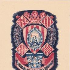Arte: EX-LIBRIS DE J ANGLADA VILA PARA ANGEL BATLLE Y TEJEDOR - 1951. Lote 154651354