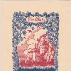 Arte: EX-LIBRIS DE J ANGLADA VILA PARA ANGEL BATLLE Y TEJEDOR - 1951. Lote 154651690