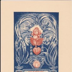 Arte: EX-LIBRIS DE JOAN ANGLADA VILA PARA ANGEL BATLLE Y TEJEDOR - 1951. Lote 154651942