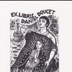 Arte: EX-LIBRIS DE ORIOL Mª DIVI PARA DANIEL DOUCET – 1997 - (FIRMADO A LAPIZ) . Lote 155782450