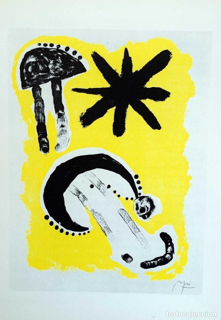 34 x 26 cm. Litografia offset JOAN MIRO