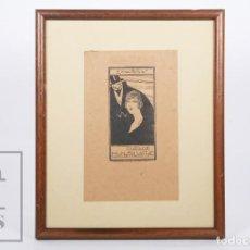 Arte: EXLIBRIS / EX LIBRIS ENMARCADO - MATILDE MONSALVATJE - Nº 16, DISEÑO DE ROBERT SABATÉ, C. 1920. Lote 155929130