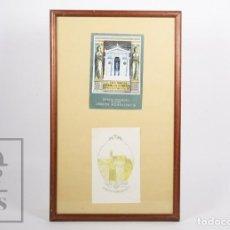 Arte: PAREJA DE EXLIBRIS / EX LIBRIS - GRECIA INMORTAL, JOSEPH MONSALVATJE, POR RAMÓN CASALS I VERNIS. Lote 155939858