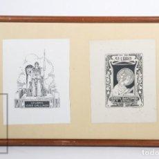 Arte: 2 EXLIBRIS / EX LIBRIS - JOSÉ GALLACH, POR TRIADÓ / JOSEPH BARTOMEU Y GRANELL,POR R. CASALS I VERNIS. Lote 155941482