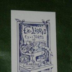 Arte: EXLIBRIS CLEMENTE GARCIA GIL - PARA LUSI MARTINEZ - COMIDA LIBRO. Lote 157944838
