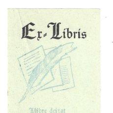 Arte: EX- LIBRIS.- ELISABET FOLCH. LLIBRE DEIXAT... LLIBRE PERDUT. . Lote 158276394