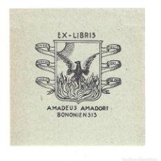Arte: EX- LIBRIS.- AMADEUS AMADORI BONONIENSIS. Lote 158276814