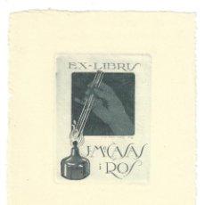 Arte: EX- LIBRIS. AGUAFUERTE.- J. Mª. CASAS I ROS. DIBUJADO POR LUIS GARCÍA FALGÁS Nº 39. Lote 158281086