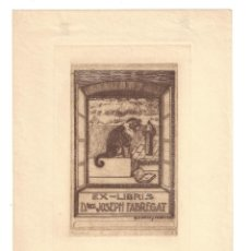 Arte: EX- LIBRIS. AGUAFUERTE.- DOCTOR JOSEPH FABREGAT. DIBUJADO POR RAMÓN CASALS I VERNÍS - 1917. Lote 158282514