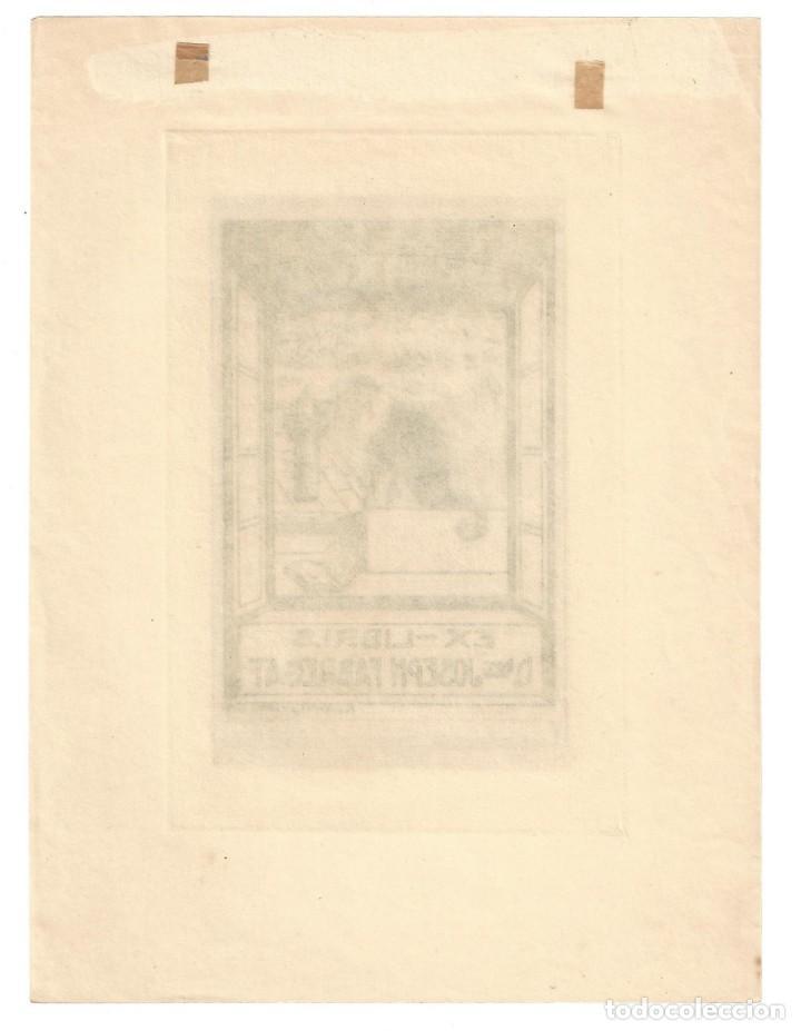Arte: EX- LIBRIS. AGUAFUERTE.- DOCTOR JOSEPH FABREGAT. DIBUJADO POR Ramón Casals i Vernís - 1917 - Foto 2 - 158282514