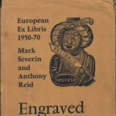 Arte: SEVERIN & REID : EUROPEAN EXLIBRIS 1950-70 ENGRAVED BOOKPLATES (PINNER, 1972). Lote 158553602
