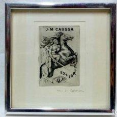 Arte: EX LIBRIS ENMARCADO DE MARÍA JOSEFA COLOM, PARA J.M. CAUSSA FIRMADO .ARCHIVO DE AUTORA.. Lote 160077090