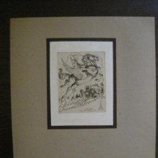 Arte: EX LIBRIS-K.RITTER-GRABADO AGUAFUERTE ORIGINAL-JEANNE WUHRMANN-VER FOTOS(X-2524). Lote 161288386