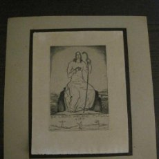 Arte: EX LIBRIS-SEPP FRANK-GRABADO AGUAFUERTE ORIGINAL-HELENE FLUGEL-VER FOTOS(X-2527). Lote 161391778