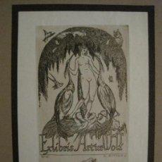 Arte: EX LIBRIS-K.RITTER-GRABADO AGUAFUERTE ORIGINAL-ARTUR WOLF-VER FOTOS(X-2533). Lote 161393258