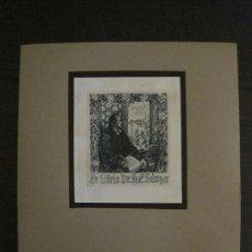 Arte: EX LIBRIS-K.RITTER-GRABADO AGUAFUERTE ORIGINAL-DR.H.SANGER-VER FOTOS(X-2534). Lote 161393474