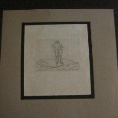 Arte: EX LIBRIS-GRABADO AGUAFUERTE ORIGINAL-VER FOTOS-(X-2535). Lote 161692126