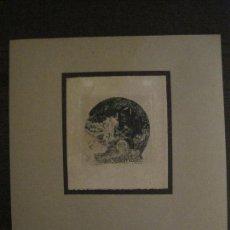 Arte: EX LIBRIS-SODER-GRABADO AGUAFUERTE ORIGINAL-RUDOLF HEDIGER-VER FOTOS-(X-2540). Lote 161693626
