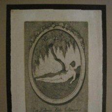Arte: EX LIBRIS-MEPH-GRABADO AGUAFUERTE ORIGINAL-HEDE SALOMON-VER FOTOS-(X-2544). Lote 161694906