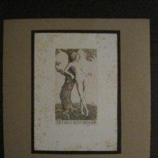 Arte: EX LIBRIS-MEPH-GRABADO AGUAFUERTE ORIGINAL-HANS WANGER-VER FOTOS-(X-2545). Lote 161695158