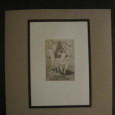 Arte: EX LIBRIS-MEPH-GRABADO AGUAFUERTE ORIGINAL-DR WILLY TROPP-VER FOTOS-(X-2546). Lote 161695386